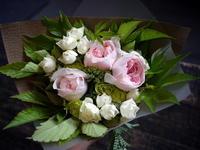 退職される方へ。5種の花束。真駒内の自衛隊札幌病院にお届け。2017/07/27。 - 札幌 花屋 meLL flowers