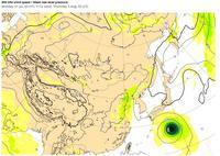 7日(月)朝、台風5号、高知上陸 !! - 沖縄の風