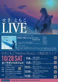 レコ発ライブのフライヤーができました♪ - 愛知・名古屋を中心に活動する女性ギタリストせきともこのブログ