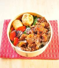 豚ラー油弁当 - 毎日の健康弁当