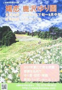 嬬恋  鹿沢ゆり園 - 浅間高原・北軽井沢 ペンション・ローエングリンの高原日記