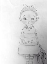 キャラクター制作の下絵。。♪^^ - rubyの好きなこと日記
