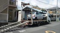 栃木市から他人名義の車検切れ車をレッカー車で廃車の出張引き取りしました。 - 廃車戦隊引き取りレンジャー