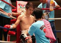 濵田力、3R 0分 52秒 TKO勝ち! - 本多ボクシングジムのSEXYジャーマネ日記