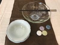 ガラス鉢&白磁稜花小鉢 - うつわ楓店主たより