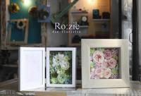 2017.8.3 壁掛けもできるお花のフレーム&フォトフレーム/プリザーブドフラワー - Ro:zic die  floristin