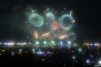花火の音が15秒くらい遅れて聞こえてくる〜!くらい遠目の撮影 - Photolog