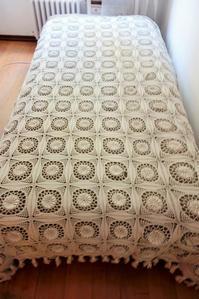 手編みコットンベッドカバー66,67   sold out! - スペイン・バルセロナ・アンティーク gyu's shop