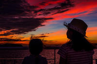 ★夕陽を見る娘たち - 一写入魂