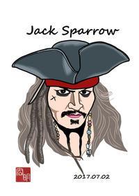 ジャック・スパロウを描きました。 - 楽しいね。似顔絵は… ヒロアキの作品館