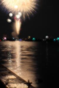 江戸川花火大会現像 - 月に叢雲 花に嵐