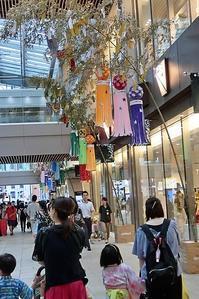 藤田八束の鉄道写真@日本の祭、仙台七夕まつりと可愛い子供たちの和装、吹き流しが美しい仙台の街 - 藤田八束の日記