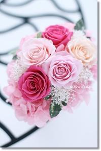 バラのオーバル型アレンジ* - Flower letters