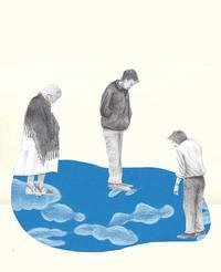 下を向いて 切り絵コラージュ - 手製本クリエイター&切絵コラージュ作家 yukai の暮らしを愉しむヒント