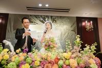新郎新婦様からのメール 気持ちに寄り添う花 レストランPACHONの花嫁様より - 一会 ウエディングの花