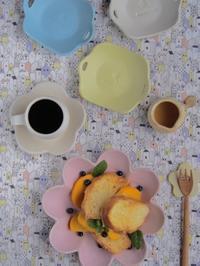 フレンチトーストの朝ごはん。 - 陶器通販・益子焼 雑貨手作り陶器のサイトショップ 木のねのブログ