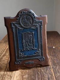 聖母マリアと少女ベルナデットのレリーフ  /E636 - Glicinia 古道具店