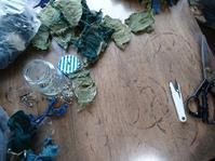 コサージュ作り - 古布や麻の葉