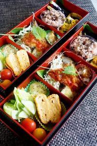 ■お弁当【真鱈のチーズ焼きサルサディップかけ他】陶芸教室の日 - 「料理と趣味の部屋」
