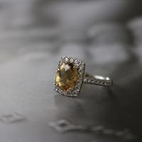 『 隠しきれない美 - Pt900+Citrine+Diamond Ring 』 - Zelkova.Kの気まぐれJewelry日記