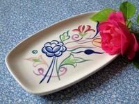 プールの手描きの花模様ピン・トレイ -  Der Liebling ~蚤の市フリークの雑貨手帖2冊目~