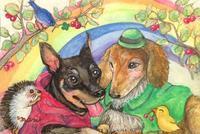 『小さな犬から始まった小さな展覧会』出展作品のご紹介 - はばたけ MY SOUL