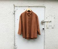 semoh 3/4 sleeve wide shirt - Lapel/Blog