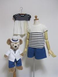 SALE!!!「第三弾」ギャザーショートパンツ3種類♥「ブルー」「ホワイト」「★」 - child_kitchen