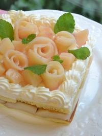 桃のショートケーキ - 調布の小さな手作りお菓子・パン教室 アトリエタルトタタン