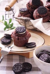 オレオのミニチョコレートマフィン - cafeごはん。ときどきおやつ