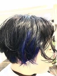 クールに青のインサイドカラー - 吉祥寺hair SPIRITUSのブログ