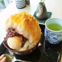 福岡三越「茶房古蓮」2回目 - 福岡の抹茶かき氷