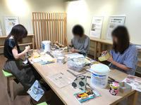 6月の北欧生地で作るカルトナージュ教室~2日目~ - 明石・神戸・宝塚のカルトナージュ&タッセル教室 アトリエ・ペルシュ
