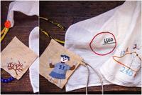 ちいさな袋と刺繍ふきん - 糸巻きパレットガーデン