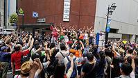 街頭プロレス労働法制改悪阻止安倍内閣退陣テントひろば - ムキンポの亀尻ブログ