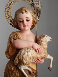 幼い洗礼者ヨハネと神の子羊     /E540 - Glicinia 古道具店