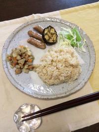 ナスとウィンナー - 庶民のショボい食卓