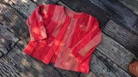 紅花染め 接ぎ合わせ ジャケット - 古布や麻の葉