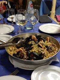 魚介たっぷりのブジアーテ - ボローニャとシチリアのあいだで2