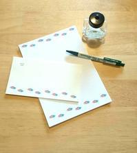 花柄やテントウムシのレターセット - mon livre diary