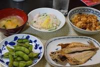 麻婆豆腐・鯵開き - おいしい日記