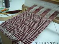あじろ織りマフラー - アトリエひなぎく 手織り日記