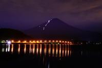 29年8月の富士(12)橋灯りと富士 - 富士への散歩道 ~撮影記~