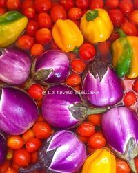 夏の保存食作り ~夏野菜のカポナータとトマトソース - La Tavola Siciliana  ~美味しい&幸せなシチリアの食卓~