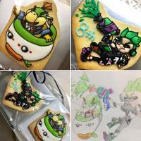 8歳さんのBDアイシングクッキー! ~スプラトゥーン&マリオのキャラクター~ - From sugar box studio