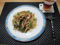 梅こんぶ茶で♪ 鶏肉と夏野菜の和風パスタ - candy&sarry&・・・2