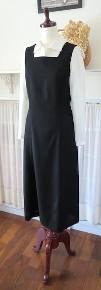 """ジャンパースカート『黒・スクエアN』 - いつかリリアン・ギッシュのように…""""Mrs.GRACE""""のアトリエ便り"""