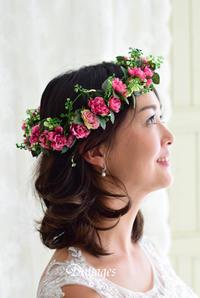 華やかな濃いピンクの花冠♪ - Dimages