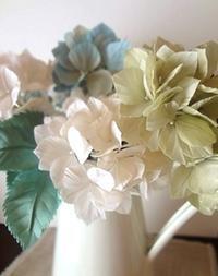 秋色のあじさい - handmade flower maya