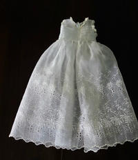 麻オーガンジー洗礼式ドレス13  sold out! - スペイン・バルセロナ・アンティーク gyu's shop